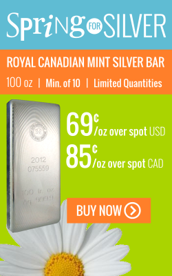 Flash Sale: Silver 100 oz RCM Bars!