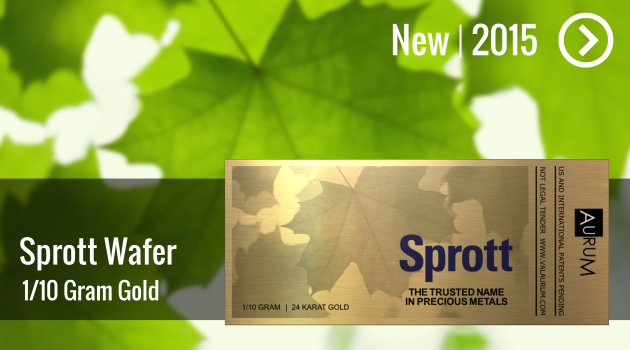 Sprott Money 1/10g Gold Wafer Now Available!